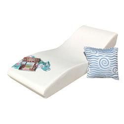 Home Infatuation - Low Profile Surf Chaise - Chaise the waves without hanging ten. This roomy and comfy foam lounger is covered with marine grade vinyl that's textured to give the appearance of leather. It's a great way to relax on the patio or poolside, and is stain, fungus and mildew resistant and easy to clean.