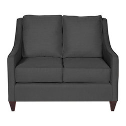 Howard Elliott - Howard Elliott Sterling Charcoal Side Car Loveseat - Sterling charcoal side car loveseat