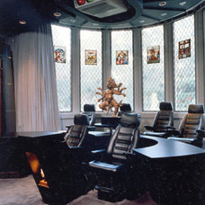 Traditional Home Theater by RYAN ASSOCIATES GENERAL CONTRACTORS