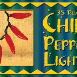 Red Chili Pepper String Lights - Birddog Distributing