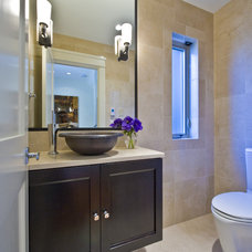 Contemporary Powder Room by Begrand Fast Design Inc.