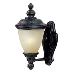 Maxim - Maxim Carriage House EE One Light Oriental Bronze Mocha Glass Wall Lantern - This One Light Wall Lantern is part of the Carriage House Ee Collection and has an Oriental Bronze Finish and Mocha Glass. It is Wet Rated, Outdoor Capable, and Energy Star Compliant.
