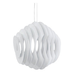 Fish Pendant Light - This mid-century modern pendant light is inspired by the fluid motion of a fish. In one connected piece, it's sure to inspire you no matter where it's hanging.