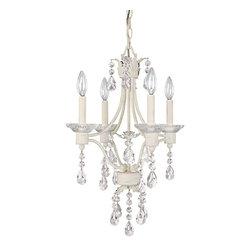Capital Lighting - Capital Lighting Shabby Chic Traditional Chandelier X-000-CS0064 - Surround the room with new breath of lighting by using the Capital Lighting Shabby Chic Traditional chandelier. It features old world panache with a touch of feminine appeal. The intimate framing with hanging crystal accents provides a refined charm and beauty to the room. For a fresh and soothing d&#233:cor accent this chandelier is a perfect choice.