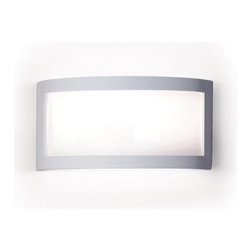 A19 Lighting - Translucency Long & Simple Ceramic Wall Sconce - This Simple Wall Sconce Creates A Beautiful Ambience All On Its Own. Open On Both Ends, Light Washes The Wall Adding To The Ambiance Of Any Setting The Ceramic Frame Is Finished In A Satin White Acrylic Finish. The Panel Is Made Of Translucent Duraflex Film, Which Emits An Appealing Glow. The Effect Is Refreshing Yet Dramatic. The Frame Is Also Available In A Number Of Colors And Faux Finishes Ranging From Rustic Metals To Rich Glossy Glaze.Height:7Width:14.25Depth:4Mounting Center:3.5Bulb Type:13 Watt Compact Fluorescent Gu24 BaseNumber Of Bulbs:1American-Made Pendant Downlight.Resistant To Rust And Corrosion.Ceramic Frame Includes A Durable Satin White Acrylic Finish.Frame Is Also Available In Over 50 Colors, Finishes And Glazes1- 13W Energy Star Gu24 Cfl (Bulb Included)Due To The Handmade Nature Of A19 Products, It Is Not Unreasonable To Expect Slight Differences From Item To Item.