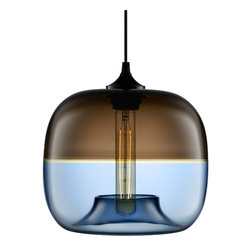 Niche Modern - Encalmo Stamen Modern Pendant - This fascinating fixture is an exquisite example of en calmo — the Italian term for fusing two glass bubbles into a single form. As the ceiling centerpiece in your favorite modern setting, it adds sublime design, radiance and color.