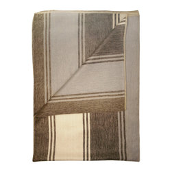Shupaca - Tierra Blanket/Throw - Grab your cocoa and get ready for some seriously comfy R&R. The blend of acrylic and silky alpaca fibers will keep you warm and cozy, and the shades of ivory, brown and tan — with hints of silver-blue — are a treat for your eyes.