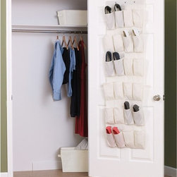 Household Essentials - Household Essentials 24 Pocket Over-the-Door Shoe Organizer - Natural Blend Mult - Shop for Closet from Hayneedle.com! Unless you have 24 feet you probably need a Household Essentials 24 pocket Over-the-Door Shoe Organizer. We're assuming you don't have 24 feet. Good news for you! This shoe organizer which hangs discreetly over any door is the perfect solution to your shoe storage needs. The organizer is made of a durable cotton blend and has a wonderful cream color. Perfect for dorm living!About Household Essentials.Household Essentials is a bold bright and innovative company working hard to bring you the foundations and modern innovations of laundry and storage essentials. Over 200 years of experience provide the company with the vision necessary for creating the perfect products for you and the credentials worthy of winning Cradle to Cradle's Silver Certification. Let Household Essentials accompany you into the future while offering you the means to have a wonderfully efficient home today.