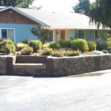 Modern Landscaping Stones And Pavers by A & K Landscaping