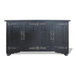 Aged Tuscany Sideboard, Italian Black Distressed - Aged Tuscany Sideboard, Italian Black Distressed