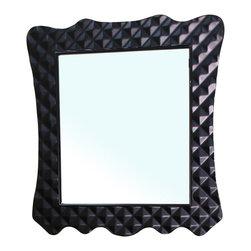 Bellaterra Home - Solid Wood Frame Mirror-Black - Solid wood frame and high quality mirror. Mirror dimension: 31.5 W x 2 D x 34.1 H
