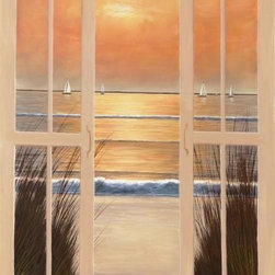 Window Seat By: Diane Romanello 50 x 34 Art Print - Window Seat By: Diane Romanello Total Size: 50 x 34 Image Size: 48 x 32 Inches. Amazing art print poster.