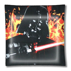 "Darth Vader Star Wars Ceiling Light - 12"" square semi flushmount ceiling lamp with designer finish. Includes complete installation instructions and complete light fixture. Wipes clean with a damp cloth. Uses 2-60 watt bulbs (not included) and is made with eco-friendly/non-toxic products. This is not a licensed product, but is made with fully licensed products."