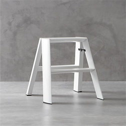 Hasegawa® Lucano White 2-Step Stool - I use a step stool in the kitchen and pantry a lot, and so do my kids. The problem is that stools get in the way when not in use, and you tend to bang that really tender part of your shin on them constantly. Not the case with this streamlined, lightweight folding step stool. It can stand up on its own without leaning against anything, so you can tuck it away anywhere.