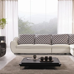 Ardi 4-Pieced Leather Sectional - Four separate pieces, thick leather upholstery and modern design will instantly bring comfort and style to your decor.