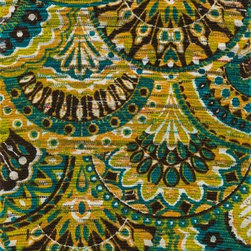 """Loloi Rugs - Loloi Rugs Aria Collection - Peacock / Yellow, 3'-0"""" x 3' Round - Expressive and relaxed, stylish and fun. The Aria Collection from India has it all. Pretty paisley patterns, flourishing flowers, dreamy damasks and magical medallion designs are printed onto 100% recycled cotton Chindi for scatter rugs that are flirty and fashionable. Dressed in a palette of bold, saturated colors that take you from cool blues and pinks to warm spice tones and modern tropical hues, too, Aria rugs come in select scatter sizes that will accent choice spaces with flair."""
