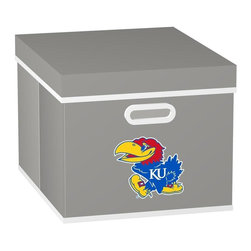 MyOwnersBox - MyOwnersBox Closet Organization College STACKITS University of Kansas 12 in. x - Shop for Storage & Organization at The Home Depot. The MyOwnersBox 10 in. x 12 in. x 15 in. University of Kansas College STACKITS Stackable Black Fabric Storage Cube has an attractive team embroided logo that looks great in your storage area. Made of sturdy non-woven polypropylene and reinforced with composite wood this storage cube has a collapsible design and folds out to form a perfect bankers box size that fits letter and legal sized folders and hanging files. Great for adding team spirit to your office or home office as well as tight spaces in your closet or college dorm room. The storage cube is also ideal for storing clothing or small toys in your children's room or laundry room. The lid is reinforced to allow stacking of 3 or more storage cubes and each comes with two reinforced plastic handles for easy mobility. Color: Grey.