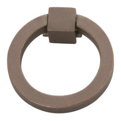 Hickory Hardware - Camarilla Dark Antique Copper Ring Cabinet Pull - Bridges contemporary and traditional design.  Offering a deep rooted sense of history in some, with an updated feel and cleaner lines.