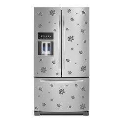 StickONmania - Refrigerator Design Decal #20 - These decals come with two of each element mirrored, you choose how to place them.A vinyl decal sticker that lets you choose how to decorate. Decorate your home with original vinyl decals made to order in our shop located in the USA. We only use the best equipment and materials to guarantee the everlasting quality of each vinyl sticker. Our original wall art design stickers are easy to apply on most flat surfaces, including slightly textured walls, windows, mirrors, or any smooth surface. Some wall decals may come in multiple pieces due to the size of the design, different sizes of most of our vinyl stickers are available, please message us for a quote. Interior wall decor stickers come with a MATTE finish that is easier to remove from painted surfaces but Exterior stickers for cars,  bathrooms and refrigerators come with a stickier GLOSSY finish that can also be used for exterior purposes. We DO NOT recommend using glossy finish stickers on walls. All of our Vinyl wall decals are removable but not re-positionable, simply peel and stick, no glue or chemicals needed. Our decals always come with instructions and if you order from Houzz we will always add a small thank you gift.