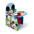 Adarn Inc - Children Kids Blue Red Mickey Mouse Storage Bin Cup Holder Play Chair Desk - This cheerful Mickey Mouse Chair Desk is the perfect place for your little one to sit and get all of his work done. Designed with all your child's favorite Mickey Mouse characters and a new exciting Mickey Mouse design, this chair desk is great for coloring, playing, and reading. The seat also opens as a storage space for your little one's toys, books, and arts supplies. The desk also features a cup holder that can be used for beverages and art supplies holders. Some assembly is required. Meets all JPMA safety standards.