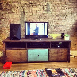 """Rustic TV Console Stand w/ Drawers/3 Console TV Stand/Rustic TV Stand/60""""L - It comes in 4 sizes:"""