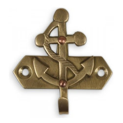 Tiny Anchor Hook - Add a tiny nautical touch to your entryway with these hooks.