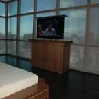 """Titan TV Lift Cabinet By US Made Cabinet Tronix.  TV Lift Cabinets - Titan TV lift cabinet designed by """"Best of Houzz 2014"""", Cabinet Tronix. Designer US made furniture perfectly married with premium US made TV lift system."""
