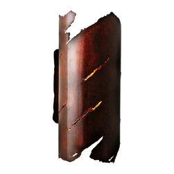 EARTHEN II ] SCO_1811TO_CRRU wall light sconce, sculpture, rustic, southwest - EARTHERN II  [ SCO_1811TO_CRRU [ 8.5w / 18h / 8e ]