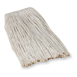 Genuine Joe - Genuine Joe Mop Head Refill - Cotton - Cotton economy mop refill offers high-grade quality, open-ended four-ply cotton yarn and delivers good absorption. Ideal for applying floor finish. Mop head fits most professional mop handles. Use with Stirrup-style Metal Handle, Gripper Jaws-style Metal Handle and Quick Change Fiberglass Mop Handle (all sold separately). Mop head refill contains a high percentage of recycled material.