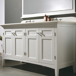 "60"" Trieste Double Sink  Vanity - Colonial White (147-527-5131) -"