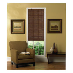 None - Flatstick Cocoa Bamboo Roll-up Shade - Add simple elegance to your modern design scheme with this bamboo roll-up shade. Featuring a rich cocoa color,this natural shade creates a soft look for your window. This shade allows a bit of sunlight to come through,giving your room a warm feel.