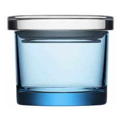"Glass Jars 3.6"" x 3"" Light Blue"