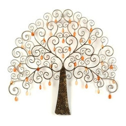 Acrylic Tree Plaque - A unique and fun piece of art, this Acrylic Tree Plaque would look great on any large wall in need of a pretty decorative accent.  This whimsical tree would also be a fun piece for a teenage girls room.