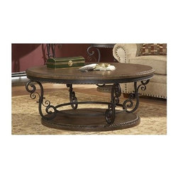 Homelegance - Harman Heights Cocktail Table - Traditional style.