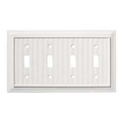 Liberty Hardware - Liberty Hardware 126361 Beadboard WP Collection 4.88 Inch Switch Plate - White - A simple change can make a huge impact on the look and feel of any room. Change out your old wall plates and give any room a brand new feel. Experience the look of a quality Liberty Hardware wall plate. Width - 4.88 Inch, Height - 8.6 Inch, Projection - 0.4 Inch, Finish - White, Weight - 0.49 Lbs.