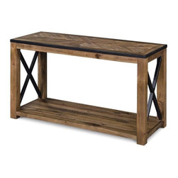 Magnussen - Magnussen Penderton Wood Rectangular Sofa Table in Sienna - Magnussen - Sofa Tables - T238673 - About This Product: