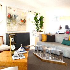 Eclectic Living Room by Saavedra Design Studio