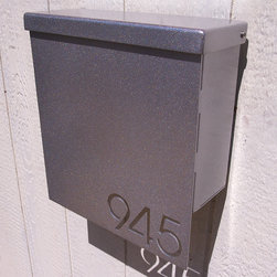 Address PCustom House Number Mailbox No. 1310 Drop Front in Powder Coated Alumin - Custom House Number Mailbox No. 1310 Drop Front in Powder Coated Aluminum