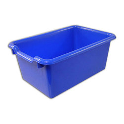 Ecr4kids - Ecr4Kids Scoop Front Storage Bins Blue Pack Of 10 - A SET OF 10, scoop-front, polypropylene tote bins designed for use with ECR storage cabinets.Heavy-duty, scoop-front, polypropylene tote bins with rounded edges for safety. Fits all ECR storage units and most standard cubbie units that are 12D or more. Available in Red, Blue, Yellow, White, Clear and Green.