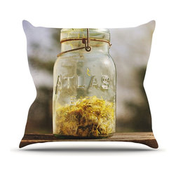 """Kess InHouse - Angie Turner """"Jar of Sunshine"""" Country Throw Pillow (Outdoor, 16"""" x 16"""") - Decorate your backyard, patio or even take it on a picnic with the Kess Inhouse outdoor throw pillow! Complete your backyard by adding unique artwork, patterns, illustrations and colors! Be the envy of your neighbors and friends with this long lasting outdoor artistic and innovative pillow. These pillows are printed on both sides for added pizzazz!"""