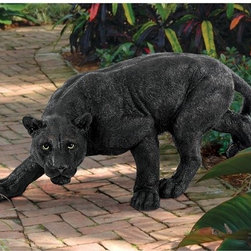 """Design Toscano - Shadowed Predator Panther Statue - The heart of African wildlife is captured in our more than two-foot-long, quality designer resin sculpture, hand-painted to herald the dark side of the jungle. This Toscano exclusive is on the prowl. Features: -Hand painted.-Customers are encouraged to bring in items during severe weather conditions or to spray items periodically with clear coat protection to extend the life of the finish..-Distressed: No.-Powder Coated Finish: No.-Gloss Finish: No.-Material: Resin.-Number of Items Included: 1.-Fade Resistant: Yes.-UV Resistant: Yes.-Mildew Resistant: No.-Powered: No.-Lighted: No.-Mounting Required: No.-Product Care: Store indoors during freezing winter weather..Dimensions: -Overall Product Weight: 8 lbs.-Overall Height - Top to Bottom: 10"""".-Overall Width - Side to Side: 26"""".-Overall Depth - Front to Back: 11"""".Assembly: -Assembly Required: No.-Additional Parts Required : No."""