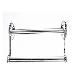 Top Knobs - Top Knobs: Hudson Bath 18 Inch Double Towel Rod - Polished Nickel - Top Knobs: Hudson Bath 18 Inch Double Towel Rod - Polished Nickel