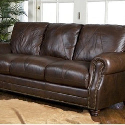 Luke Leather - Solomon Italian Leather Sofa - Solomon-