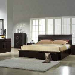 Stylish Wood High End Elite Furniture with Extra Storage - Zen unique design wenge bedroom set with storage bed. The Zen Bedroom set is an amazing demonstration of function and style. It's wenge color scheme would draw the attention of anyone who saw it.