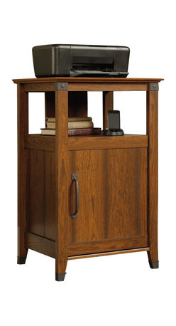 Sauder - Sauder Carson Forge Technology Pier in Washington Cherry Finish - Sauder - Printer Stands - 412923
