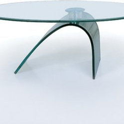 C21 Glass Oval Coffee Table