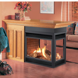 Napoleon BGD40N3E Peninsula Open 3 Sides With Black Door Natural Gas Electronic -