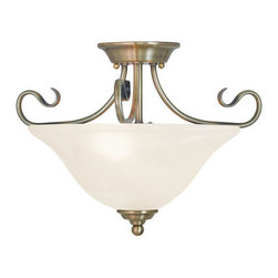 Livex Lighting - Livex Lighting 6121 Coronado 2 Light Semi-Flush Ceiling Fixture - Features: