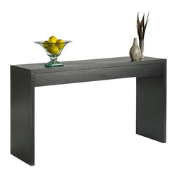 Convenience Concepts - Northfield Wall Console Table in Espresso Fin - Hollow core construction. Limited warranty. Made from stained melamine veneer on MDF board. Assembly required. Weight limit: 25 lbs.. 48 in. W x 15.5 in. D x 28 in. H (31 lbs.)Matches other Northfield items.