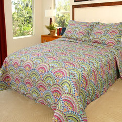 Lavish Home - Lavish Home Melanie Quilt Set Multicolor - 66-10001-FQ - Shop for Bedding Sets from Hayneedle.com! Bright colors and an intricate medallion design make the Lavish Home Melanie Quilt Set perfect for freshening up the guest bedroom or dorm. This quilt is made of soft polyester with a cotton-and-poly blend fill. It comes complete with one pillowcase for the twin size and two for all other sizes.Dimensions:Twin: 68 x 86 in.Full / Queen: 86 x 86 in.King: 101 x 86 in.About Trademark Global Inc.Located in Lorain Ohio Trademark Global offers a vast selection of items for your home and lifestyle. Whether you need automotive products collectibles electronics general merchandise home and garden items home decor housewares outdoor supplies sporting goods tools or toys Trademark Global has it at a price you can afford. Decor items and so much more are the hallmark of this company.
